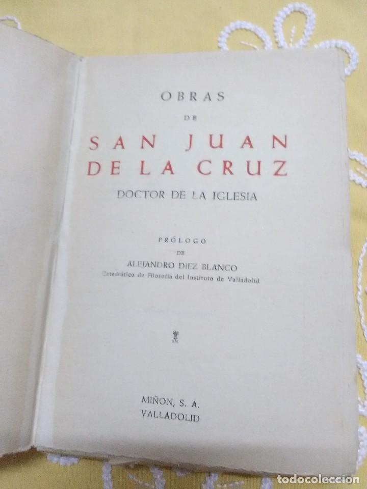 Libros de segunda mano: Obras de San Juan de la Cruz, Doctor de la Iglesia. Miñón. - Foto 2 - 158990418