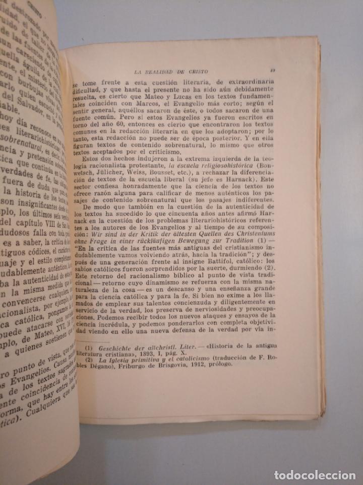 Libros de segunda mano: CRISTO. DR. ANTONIO SCHÜTZ EDITORIAL LUIS GILI 1944. TDK379 - Foto 2 - 159078830