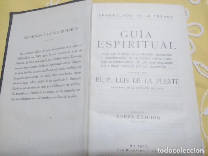 Libros de segunda mano: Guía espiritual. Luis de la Puente. Ap. de la Prensa. 1926. - Foto 2 - 159154810