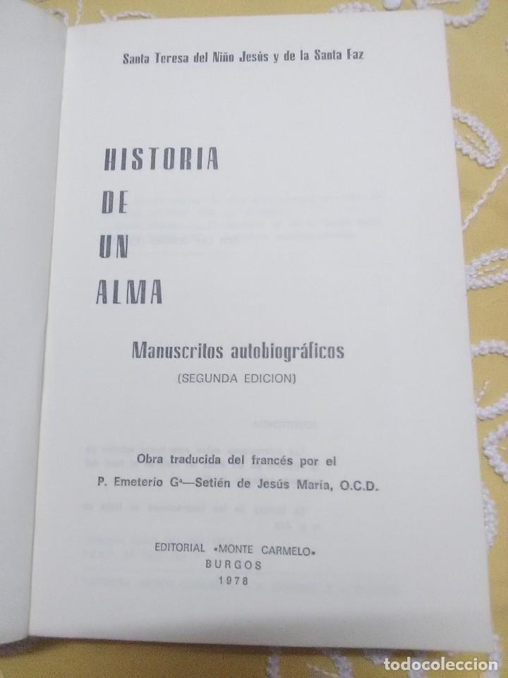 Libros de segunda mano: Historia de un alma. Teresa de Lisieux. Monte Carmelo. 1978. 2 Ed. - Foto 2 - 159163678