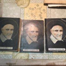Libros de segunda mano: ANTIGUOS 3 ALMANAQUE DE LAS CONFERENCIAS DE SAN VICENTE DE PAÚL AÑO 1946, 1950, 1955. Lote 159307142