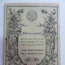 Libros de segunda mano: DIVULGACIÓN DE LA LEY DE 25 DE NOVIEMBRE DE 1944 QUE TRANSFORMA. LOS PREVISORES DEL PORVENIR. . Lote 159608698