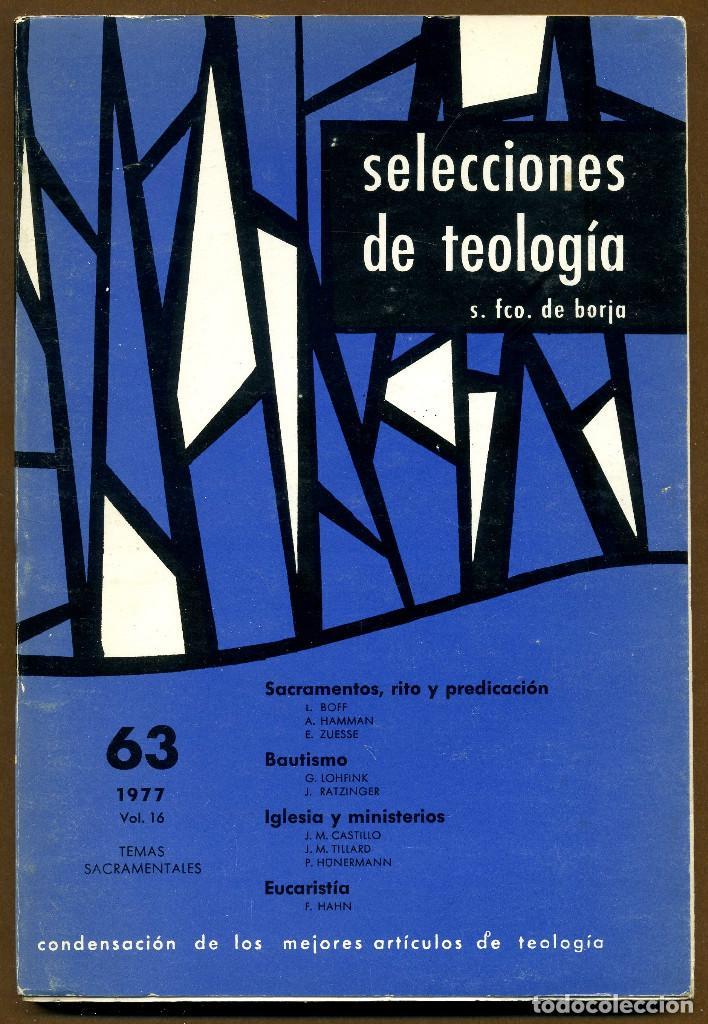 SELECCIONES DE TEOLOGIA 1977 - Nº 63 (Libros de Segunda Mano - Religión)