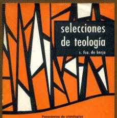 Libros de segunda mano: SELECCIONES DE TEOLOGIA 1976 - Nº 58. Lote 160032694