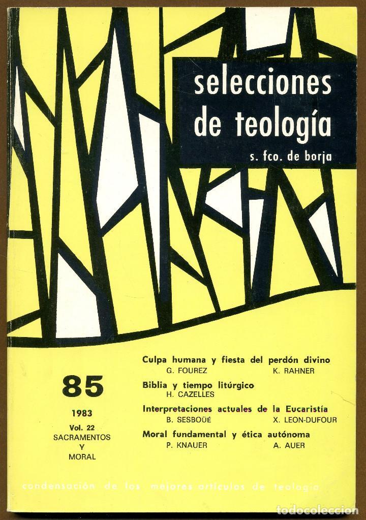 SELECCIONES DE TEOLOGIA 1983 - Nº 85 (Libros de Segunda Mano - Religión)