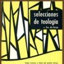 Libros de segunda mano: SELECCIONES DE TEOLOGIA 1983 - Nº 85. Lote 160032818