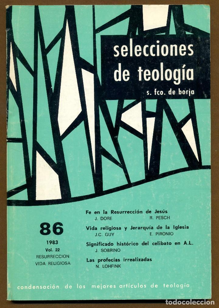 SELECCIONES DE TEOLOGIA 1983 - Nº 86 (Libros de Segunda Mano - Religión)
