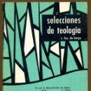 Libros de segunda mano: SELECCIONES DE TEOLOGIA 1983 - Nº 86. Lote 160032918