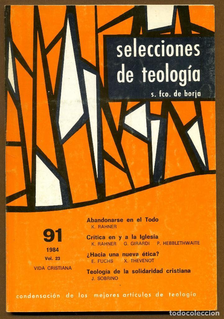 SELECCIONES DE TEOLOGIA 1984 - Nº 91 (Libros de Segunda Mano - Religión)