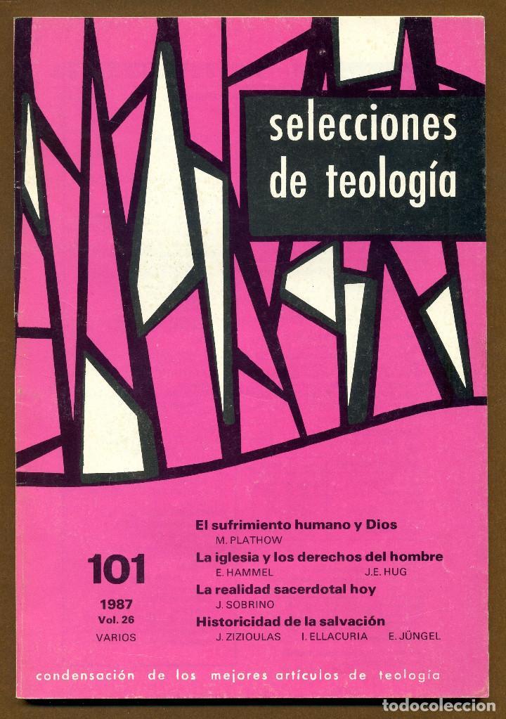 SELECCIONES DE TEOLOGIA 1987 - Nº 101 (Libros de Segunda Mano - Religión)