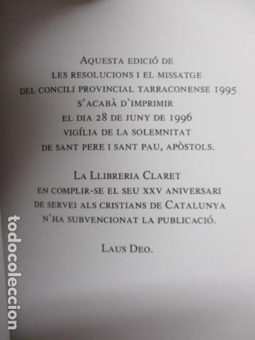 Libros de segunda mano: CONCILI PROVINCIAL TARRACONESE 1995 - MUY BUEN ESTADO - Foto 5 - 160944390