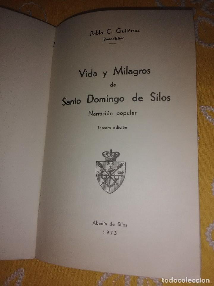 Libros de segunda mano: Vida y milagros de Santo Domingo de Silos. Gutiérrez. Ab. Silos. 1973. 3 Ed. - Foto 2 - 161183138