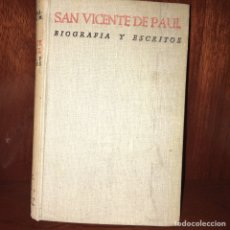Libros de segunda mano: SAN VICENTE DE PAUL BAC. Lote 161255362