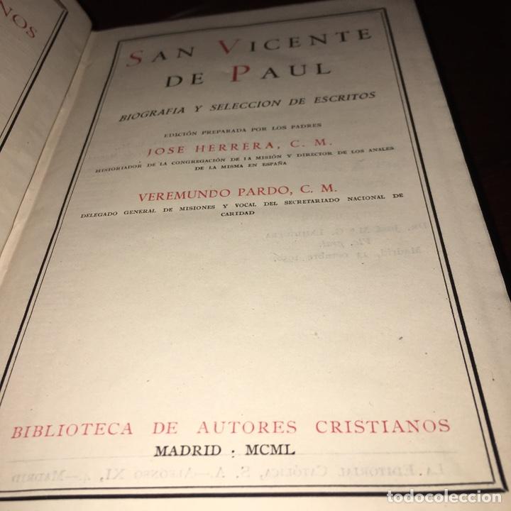 Libros de segunda mano: San Vicente de Paul BAC - Foto 3 - 161255362