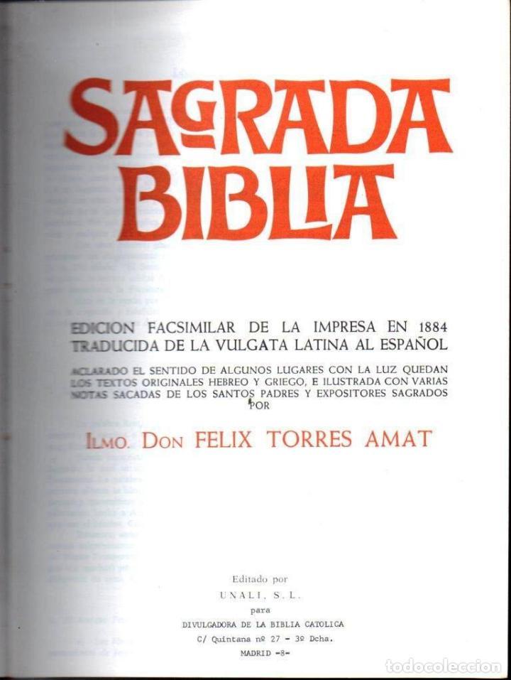 Libros de segunda mano: SAGRADA BIBLIA (UNALI, 1979) GRAN FORMATO - Foto 2 - 161449378