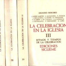 Libros de segunda mano: DIONISIO BOROBIO : LA CELEBRACIÓN EN LA IGLESIA - TRES TOMOS (SÍGUEME, 1987-88-90). Lote 162142842