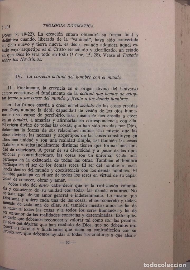Libros de segunda mano: TEOLOGIA DOGMATICA. II. DIOS CREADOR. MICHAEL SCHMAUS. EDICIONES ALP. MADRID, 1959. PAGS 457 - Foto 2 - 163847930
