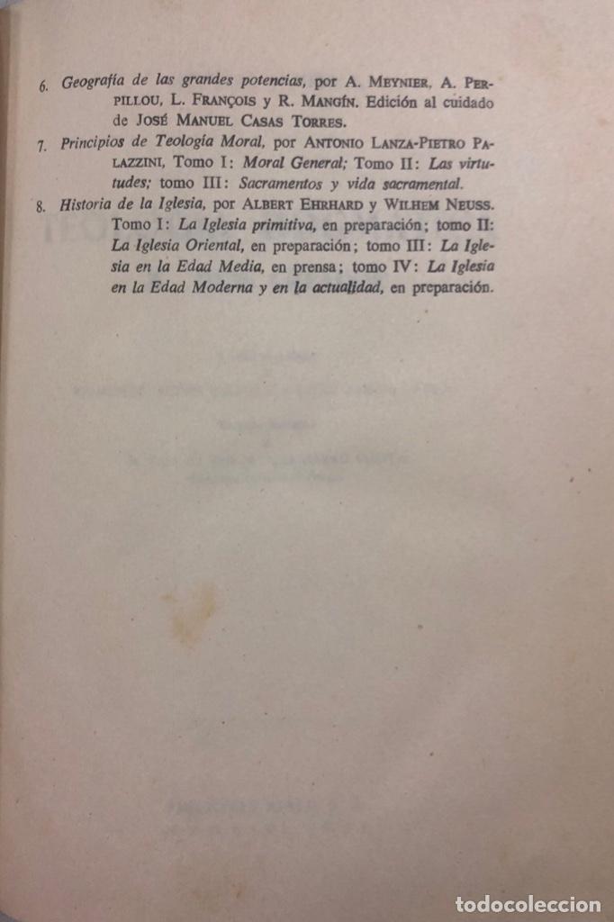 Libros de segunda mano: TEOLOGIA DOGMATICA. II. DIOS CREADOR. MICHAEL SCHMAUS. EDICIONES ALP. MADRID, 1959. PAGS 457 - Foto 5 - 163847930