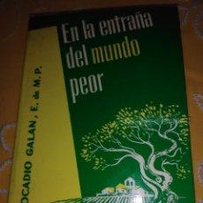 Libros de segunda mano: EN LA ENTRAÑA DEL MUNDO PEOR. LEOCADIO GALÁN. 1981. 2 ED.. Lote 164001374
