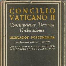 Libros de segunda mano: CONCILIO VATICANO II, BAC. EN PERFECTO ESTADO. Lote 164159934