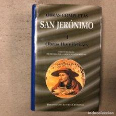 Libros de segunda mano: SAN JERÓNIMO, OBRAS COMPLETAS. I OBRAS HOMILÉTICAS. BIBLIOTECA DE AUTORES CRISTIANOS 1999.. Lote 164964178