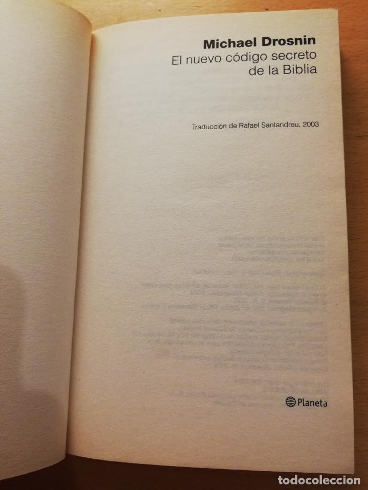 Libros de segunda mano: EL NUEVO CÓDIGO SECRETO DE LA BIBLIA (MICHAEL DROSNIN) - Foto 2 - 165400290