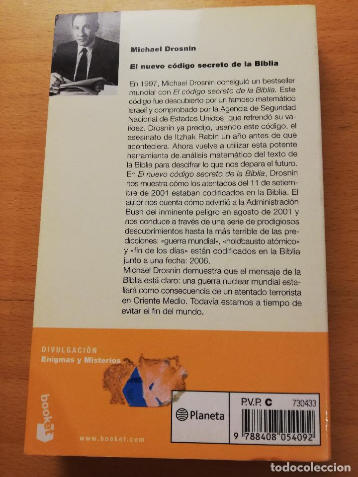 Libros de segunda mano: EL NUEVO CÓDIGO SECRETO DE LA BIBLIA (MICHAEL DROSNIN) - Foto 4 - 165400290