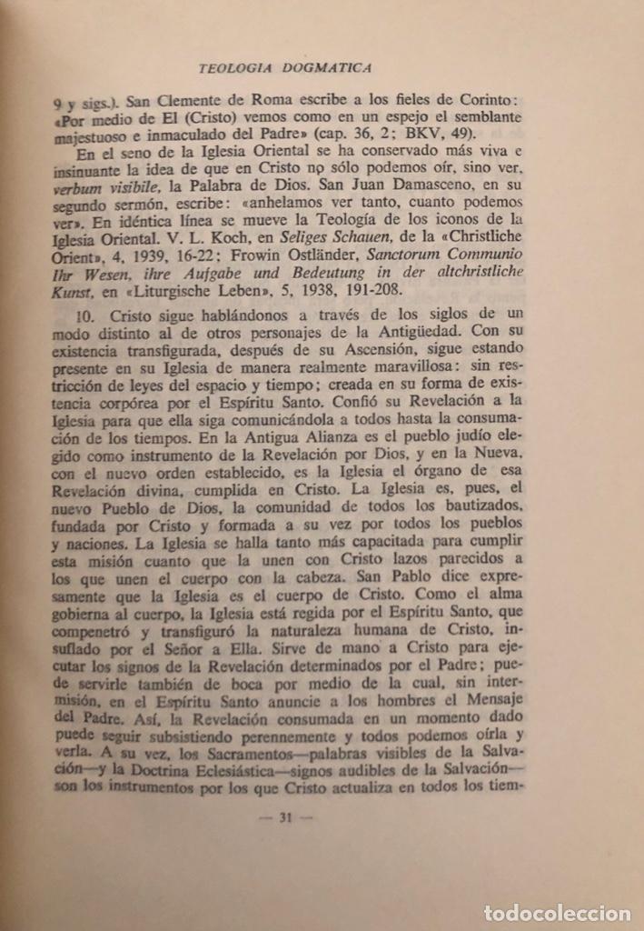 Libros de segunda mano: TEOLOGIA DOGMATICA. I. LA TRINIDAD DE DIOS. MICHAEL SCHMAUS. EDICIONES RIALP. MADRID, 1960 - Foto 2 - 165525742