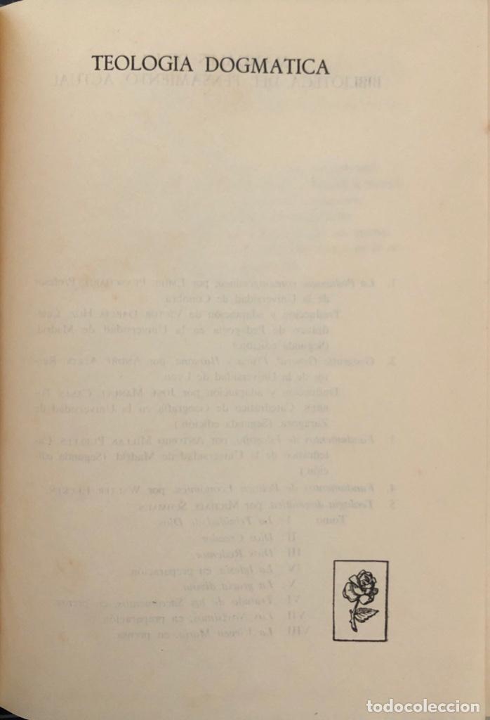 Libros de segunda mano: TEOLOGIA DOGMATICA. I. LA TRINIDAD DE DIOS. MICHAEL SCHMAUS. EDICIONES RIALP. MADRID, 1960 - Foto 4 - 165525742