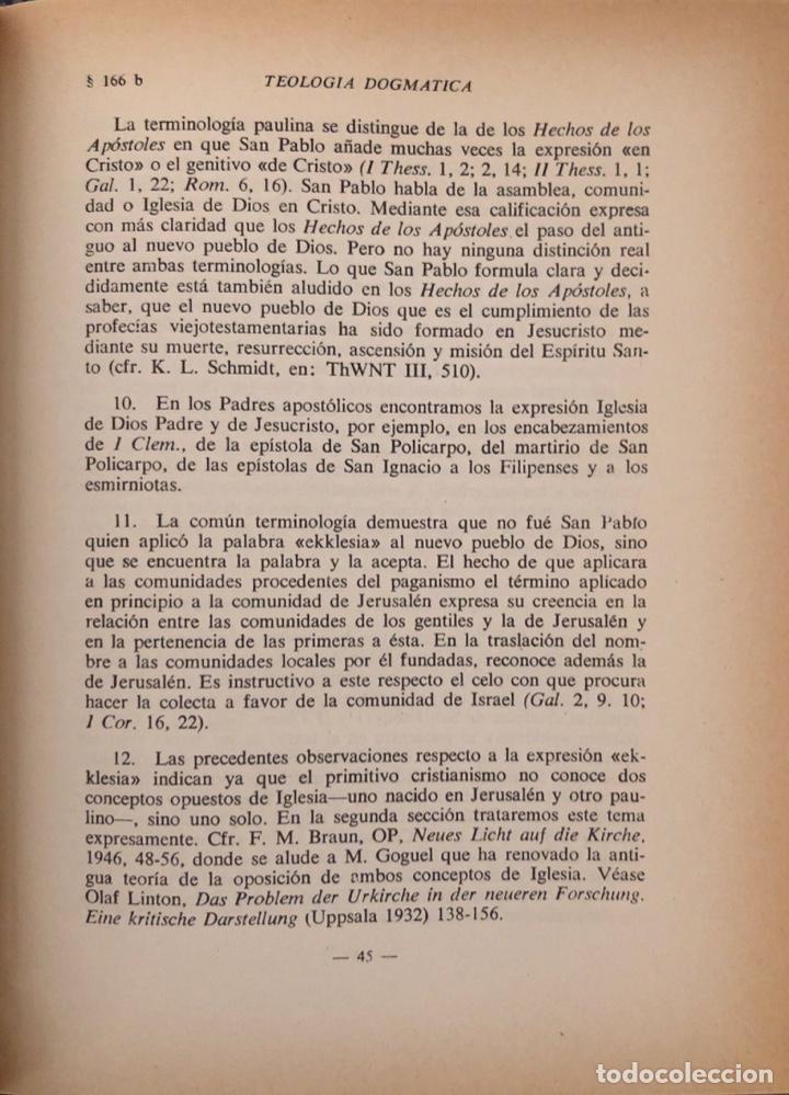 Libros de segunda mano: TEOLOGIA DOGMATICA. IV. LA IGLESIA. MICHAEL SCHMAUS. EDICIONES RIALP. MADRID, 1962 - Foto 3 - 165525882