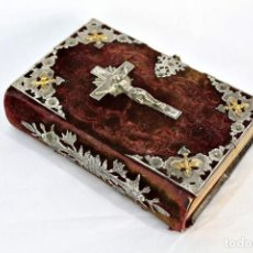 Libros de segunda mano: BELLÍSIMO MISAL EN VELVET, LÁMINA DE PLATA. DIAMANTE DEL CRISTIANO. INMACULADA CONCEPCIÓN. Lote 165620126