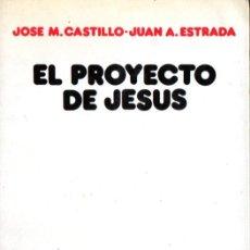 Libros de segunda mano: CASTILLO Y ESTRADA : EL PROYECTO DE JESÚS (SÍGUEME, 1987). Lote 166430862