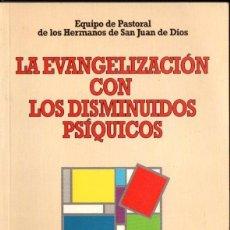 Libros de segunda mano: EQUIPO PASTORAL SAN JUAN DE DIOS : LA EVANGELIZACIÓN CON LOS DISMINUIDOS PSÍQUICOS (CCS, 1995). Lote 166436330