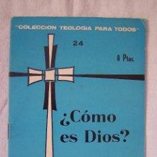 Libros de segunda mano: ¿CÓMO ES DIOS? J. E. BRUNS. COLECCIÓN TEOLOGÍA PARA TODOS, 24. ED. SAL TERRAE, 1967.. Lote 166702862