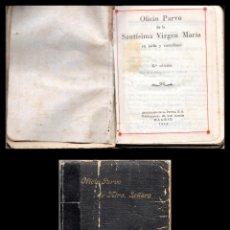 Libros de segunda mano: LIBRO, OFICIO PARVO DE LA SANTISIMA VIRGEN MARIA, EN LATIN Y EN CASTELLANO. 1942.. Lote 166776546