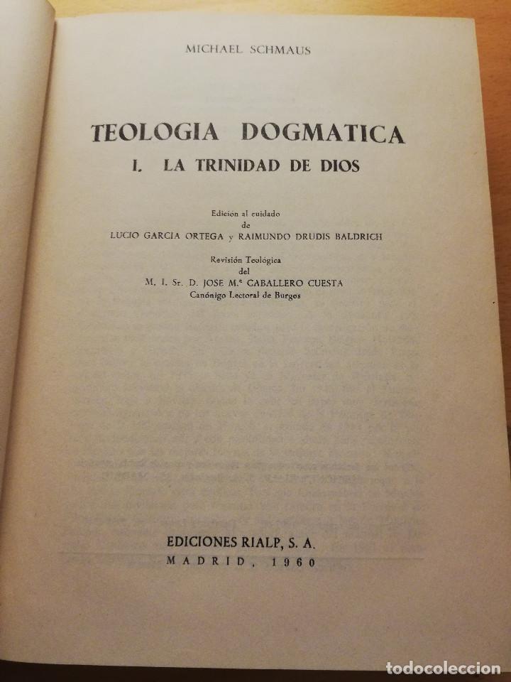 Libros de segunda mano: TEOLOGÍA DOGMÁTICA. 1 LA TRINIDAD DE DIOS (MICHAEL SCHMAUS) EDICIONES RIALP - Foto 2 - 166843432