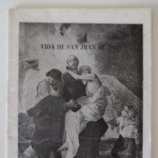 Libros de segunda mano: VIDA DE SAN JUAN DE DIOS.. Lote 166849082