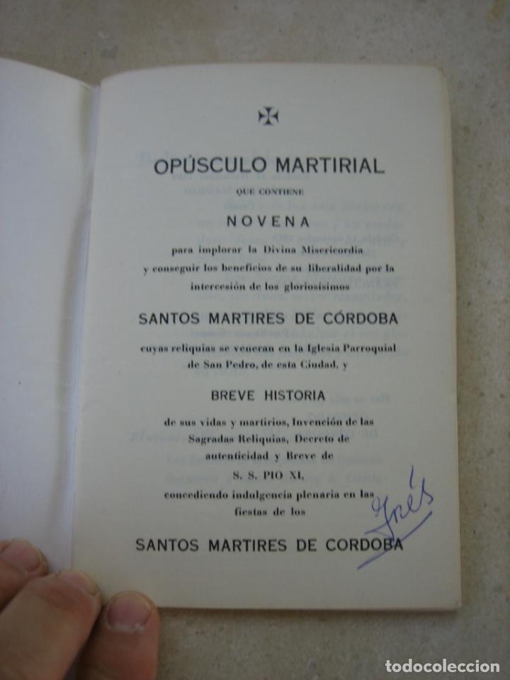 Libros de segunda mano: Los Santos mártires de Cordoba - Foto 2 - 166972224