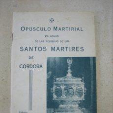 Libros de segunda mano: LOS SANTOS MÁRTIRES DE CORDOBA. Lote 166972224