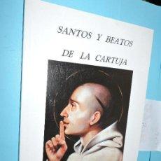 Libros de segunda mano: SANTOS Y BEATOS DE LA CARTUJA. MAYO ESCUDERO, JUAN. CÁDIZ 2000. Lote 166973072