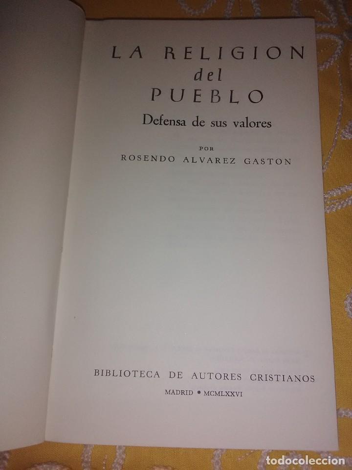 Libros de segunda mano: La religión del pueblo. R. Álvarez Gastón. BAC popular, n 2. 1976. - Foto 3 - 167185900