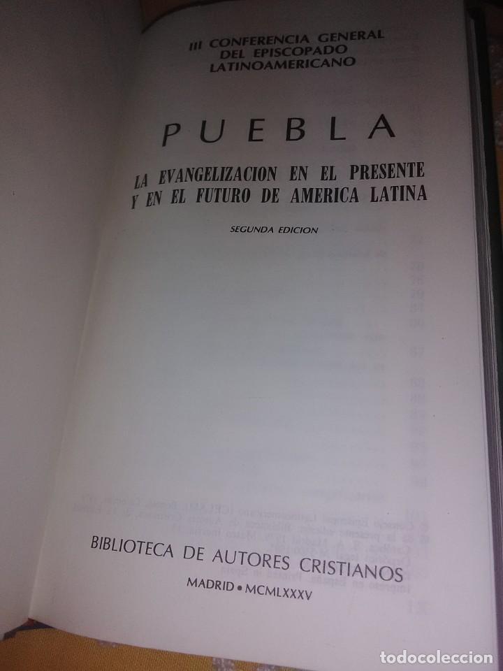 Libros de segunda mano: Puebla, la evangelización... III Conferencia episcopado... BAC minor, n 55. 1985. 2 ed. - Foto 2 - 167186180