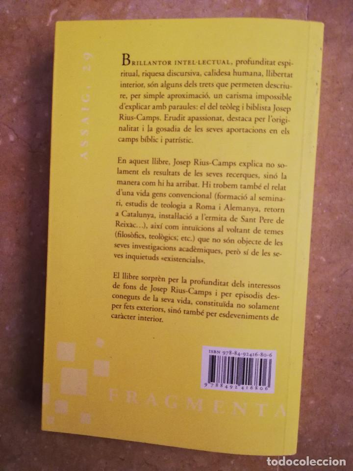 Libros de segunda mano: CONVERSES AMB JOSEP RIUS - CAMPS (IGNASI MORETA) - Foto 4 - 167194040