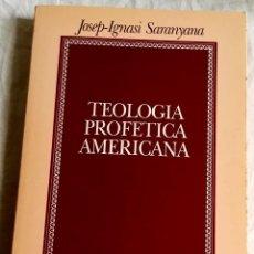 Libros de segunda mano: TEOLOGÍA PROFÉTICA AMERICANA; JOSEP-IGNASI SARANYANA - UNIVERSIDAD DE NAVARRA 1991. Lote 167200976