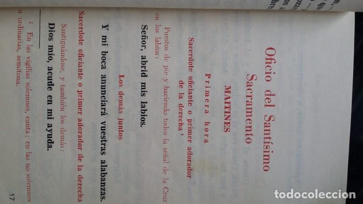 Libros de segunda mano: Rezo del Oficio Divino 1966 Adoracòn Nocturna española - Foto 3 - 77886157