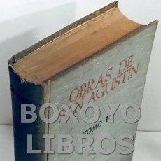 Libros de segunda mano: [SAN AGUSTÍN]. OBRAS DE SAN AGUSTÍN EN EDICIÓN BILINGÜE. TOMO II. INTRODUCCIÓN A LA FILOSOFÍA DE SAN. Lote 167768109