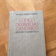 Libros de segunda mano: CÓDIGO DE DERECHO CANÓNICO. 1945. Lote 167842078