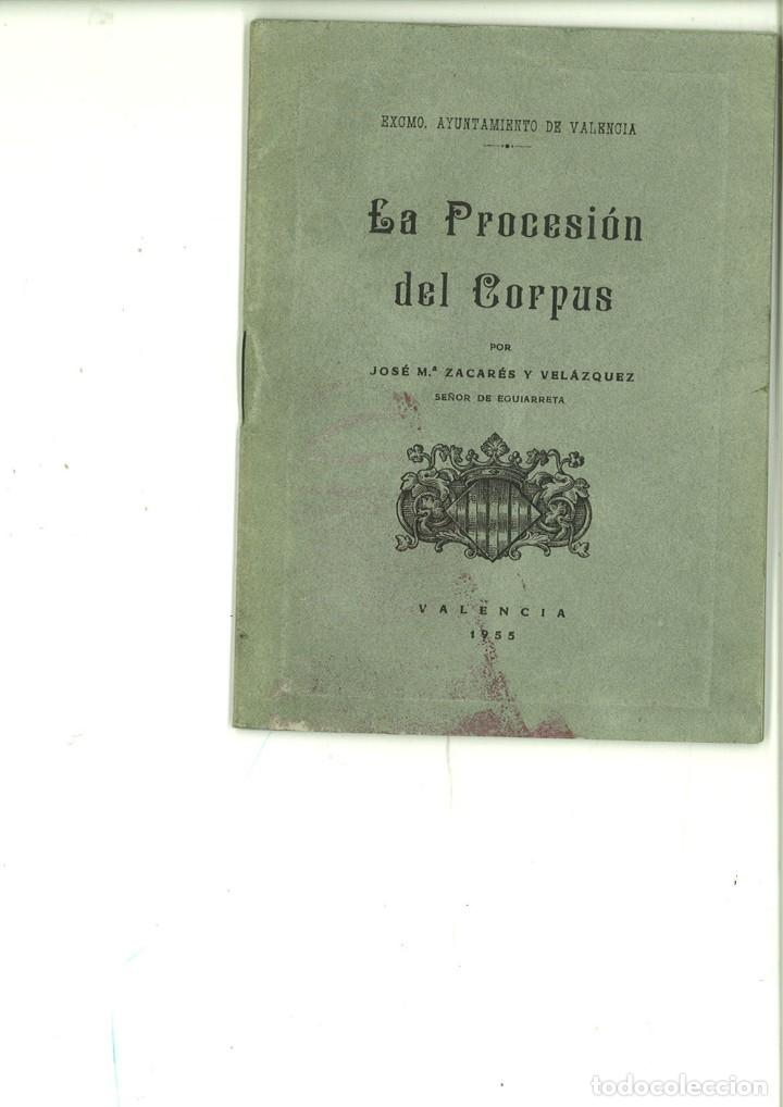 LA PROCESIÓN DEL CORPUS. JOSÉ Mª. ZACARÉS Y VELÁZQUEZ (Libros de Segunda Mano - Religión)