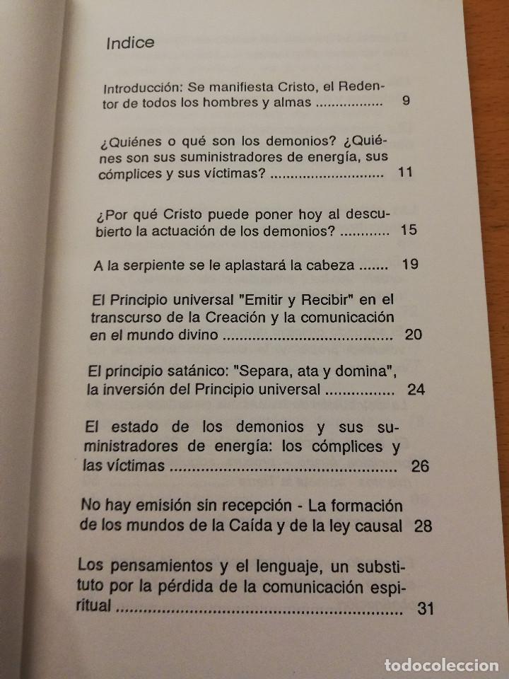Libros de segunda mano: CRISTO PONE AL DESCUBIERTO: EL ESTADO DE LOS DEMONIOS, SUS CÓMPLICES Y SUS VÍCTIMAS - Foto 3 - 168512417