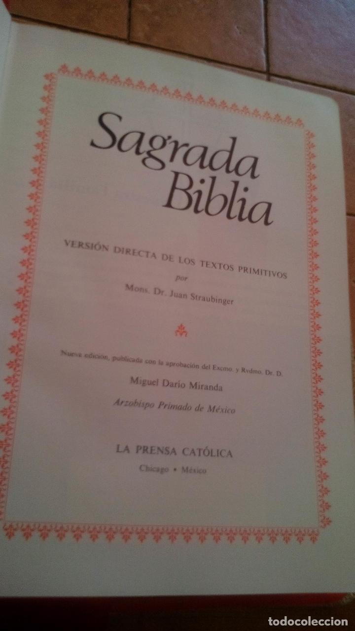 Libros de segunda mano: SAGRADA BIBLIA, EDICION FAMILIAR CATOLICA, EDICION DE LUJO - Foto 4 - 168653020